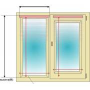 Как измерить размер окна для рулонных штор?